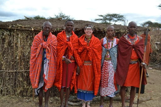 All dressed up with my Maasai family